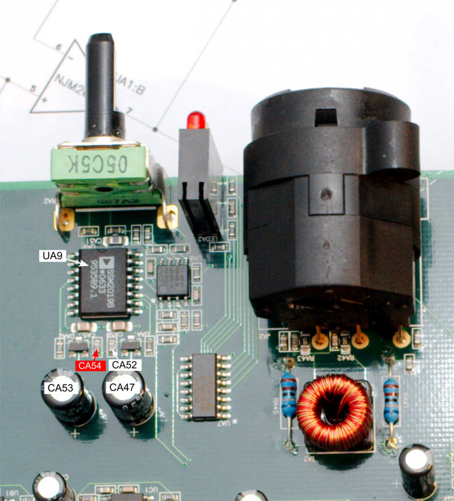 Closeup of Layla3G microphone preamp
